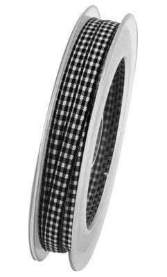 Band Karo 9648/08mm 20m, 90 schwarz