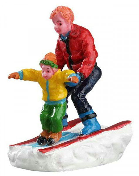 Father & Son Skiing 3,2x5,5cm