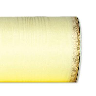 Kranzband 6694/125mm 25m Moire Goldrand, 678 champa