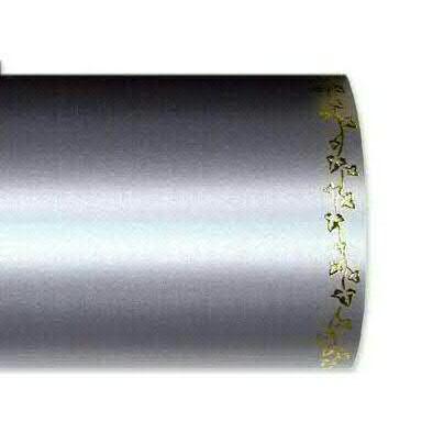 Kranzband 2505/125mm 25m Satin Efeurand gold, 721 grau