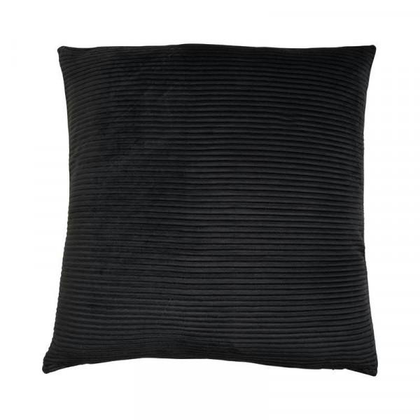 Kissen 45x45cm Lino, schwarz