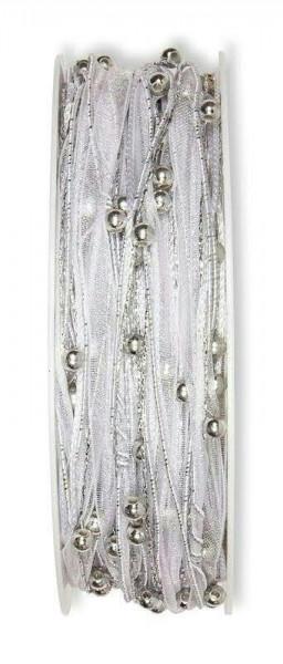 Kordel 4775/5mm 15m Perlen, 211 silber