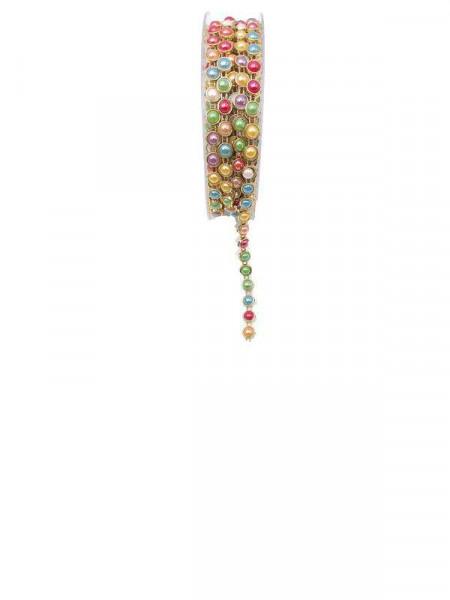 Perlenkette 7047/7mm 4,5m, bunt
