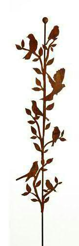 Rost Gartenstecker Vögel H150cm