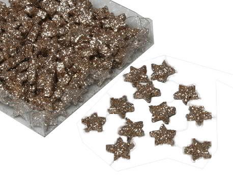 Sterne 1,7cm 144St.mit Glitter, champagne