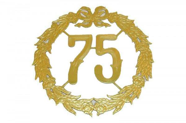 Zahlenkränze SP 27cm 75, gold