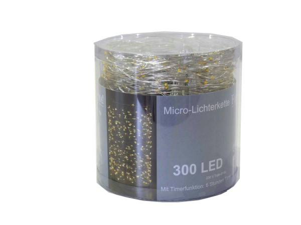 Microlichterkette 300LED 16m Trafo, outdoor ww