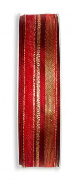 Band 6840/25mm 25m Lurexstreifen, 77 rot
