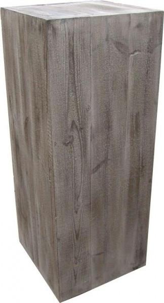 Säule Holz 80x39x39cm leicht, old pine
