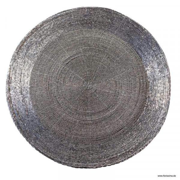 Tischset D35cm rund, rauchgrau