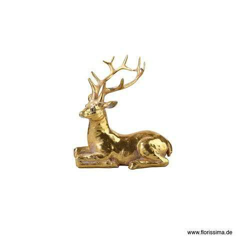 Hirsch Poly 12x7,5x11cm, gold