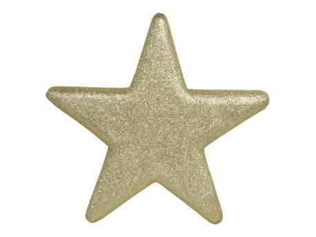 Stern 25x25cm Glitter, gold