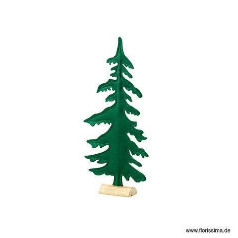 Tanne Filz 25x52,5cm auf Stand, grün