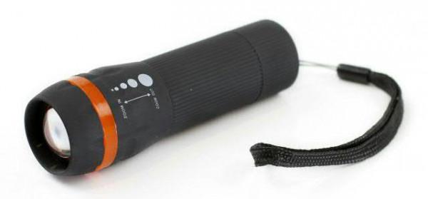 Taschenlampe Sila L6Orange Zoom, schwarz
