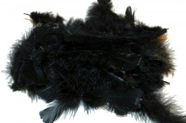 Maraboufedern 30g, schwarz