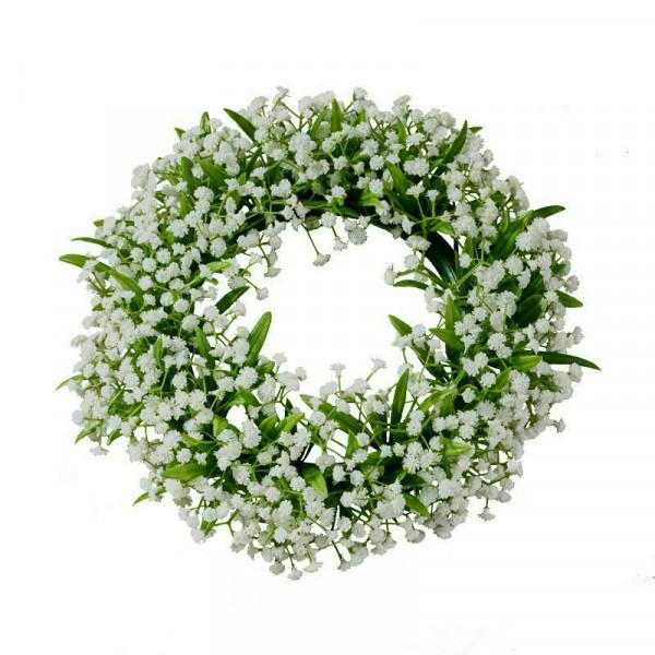 Gypso Kranz 25cm, grün/weiß