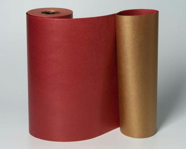 Manschettenpapier 25cm 100lfm 2-Color, gold/rot