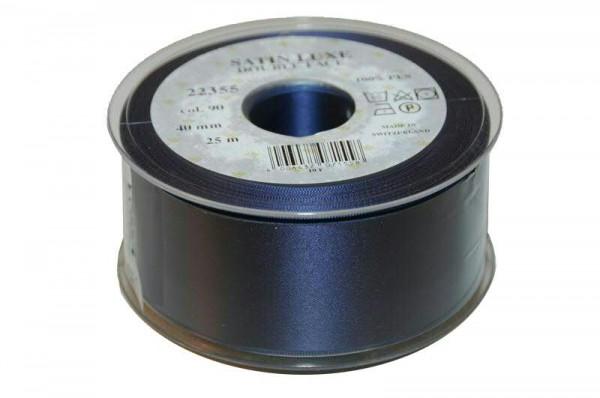Band Satin 22355/40mm 25m, 090 d.blau