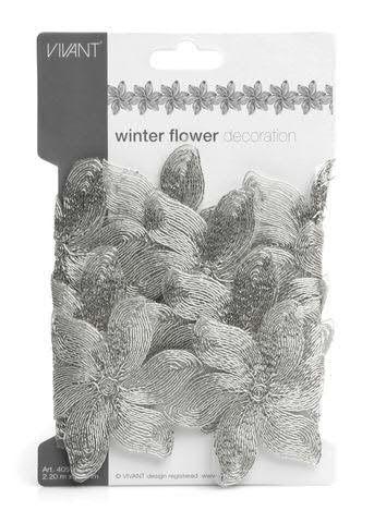 Tischband 4051/95mm 2,2m Winterblume, 01 silber