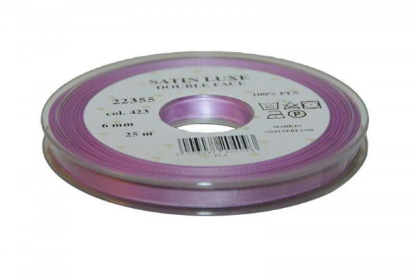 Band Satin 22355/06mm 25m, 423 fliede