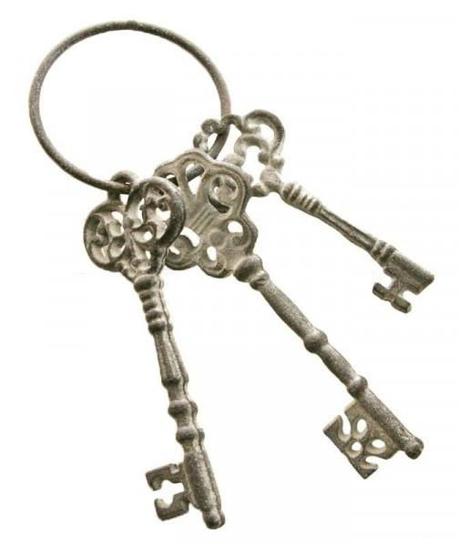 Schlüsselbund x3 Guß 8,5x23,5cm