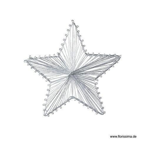 Stern Metall 15cm 3D, silber