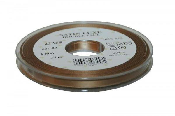 Band Satin 22355/06mm 25m, 029 schlam
