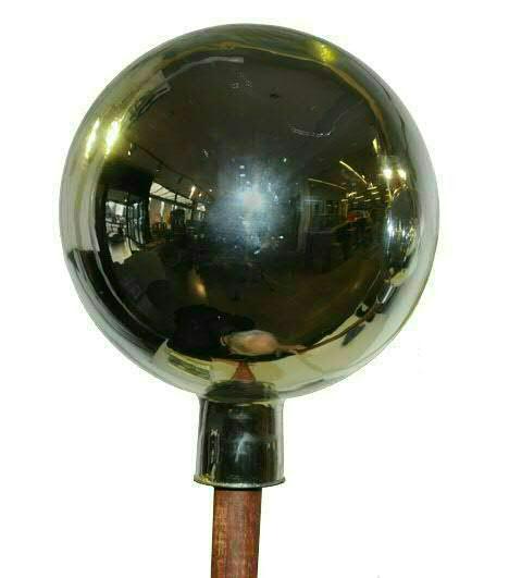 Rosenkugel 20cm mit Stab 120cm, silber