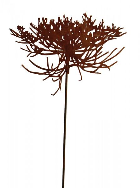 Rost Blüte am Stab D40cm L120cm