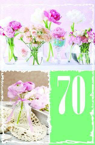 Karte Geburtstag Zahl 70