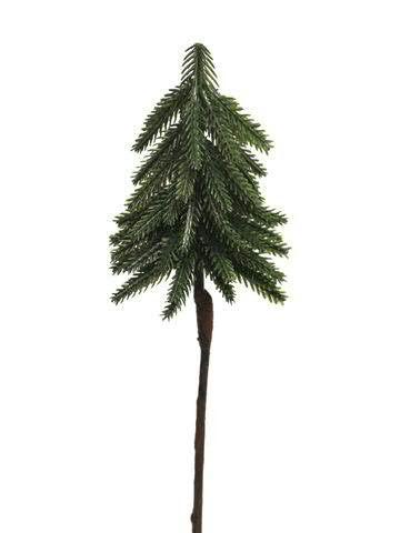 Tanne mit Stiel 20cm, grün