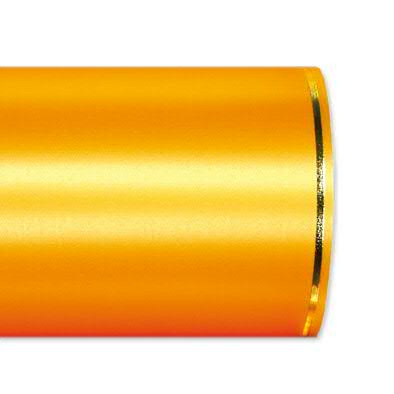 Kranzband 2501/150mm 25m Satin Goldrand, 713 gelb