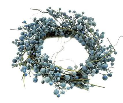 Beeren Kranz 35cm, blau