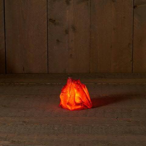 LED Flamme 12,5x10cm für Batterie 3xAA künstliches Feuer