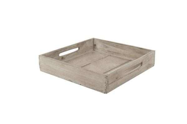 Tablett Holz 26x26x5cm, braun