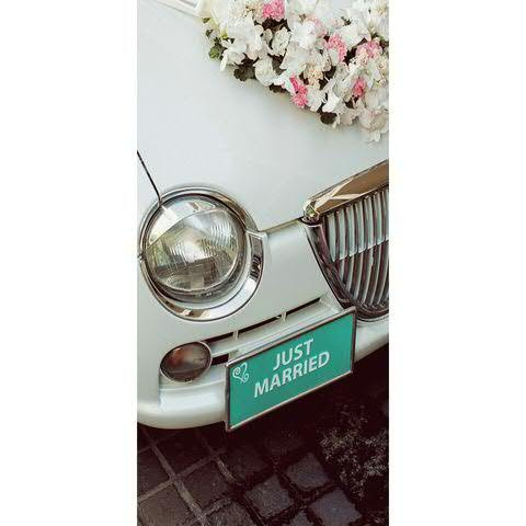 Banner 90x180cm Just married