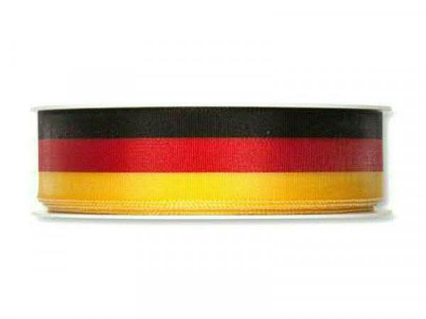Band SP 8000/025mm 25m schwarz/rot/gold, schw/ro/go