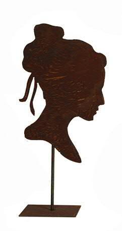 Rost Silhouette H36/50cm a.Stab/Platte B23cm