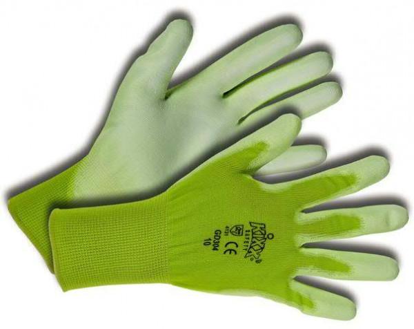 Handschuhe Gr.08 Nylon/Polyurethan, hellgrün