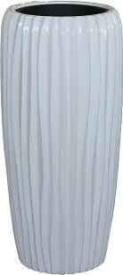 Vase FS150 H75cm m.E., glz.weiß