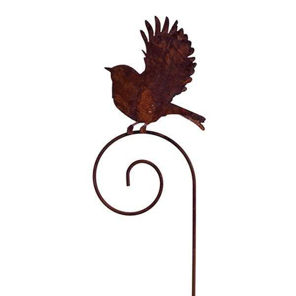 Rost Vögel 25x25cm a.Stab L180cm