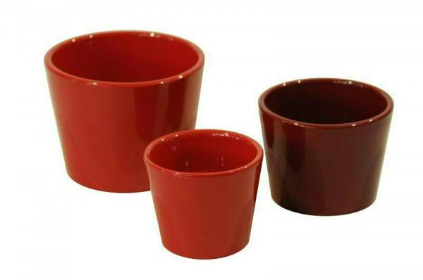 Kübel Keramik 440/10cm, rot glz.