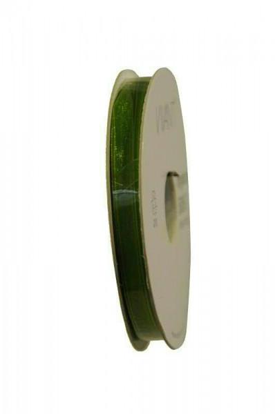 Band Organza 5065/7mm 50m, 62 grün