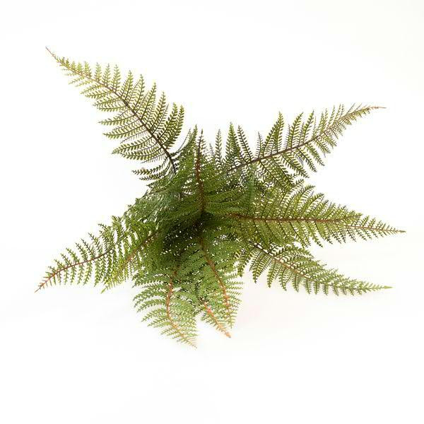 Klocke Deko farnbusch 57cm x12 grün farn kunstbäume pflanzen sortiment