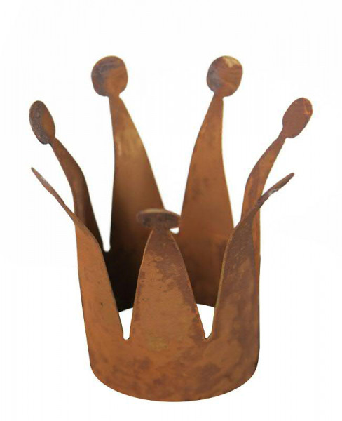Rost Krone schmal D10H25cm