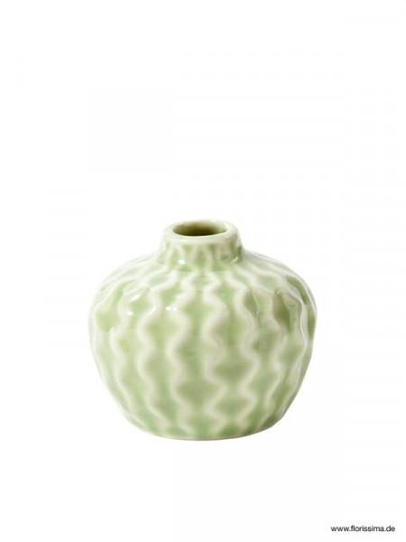 Vase Keramik Sp 4st8x8x7cm Bauchig Grün Keramik Fs Frühjahr