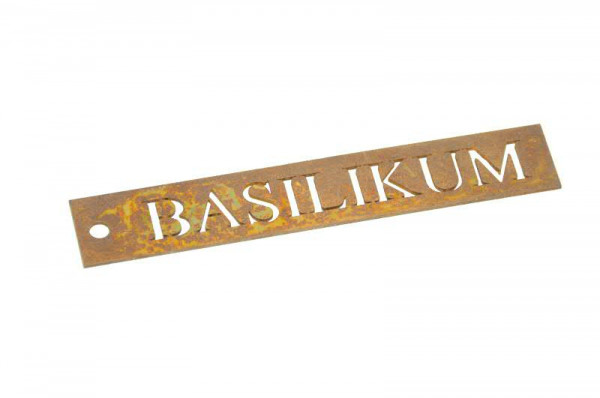 Rost Schild Basilikum B2cm