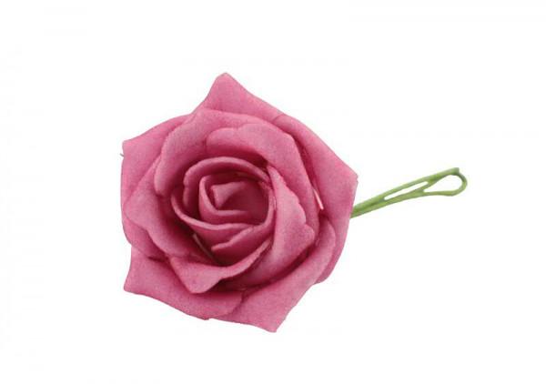 Schaumrose D5L25cm 30St., pink