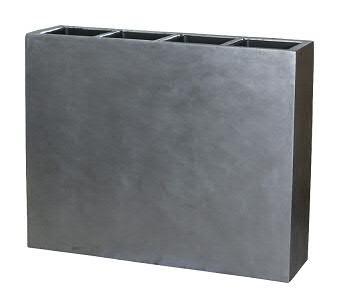 Raumteiler FS125 D93x25cm H76cm 4 Eins, silber