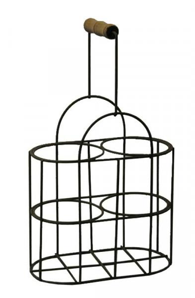 Flaschenkorb Metall x2 20x10x17/32cm, rost